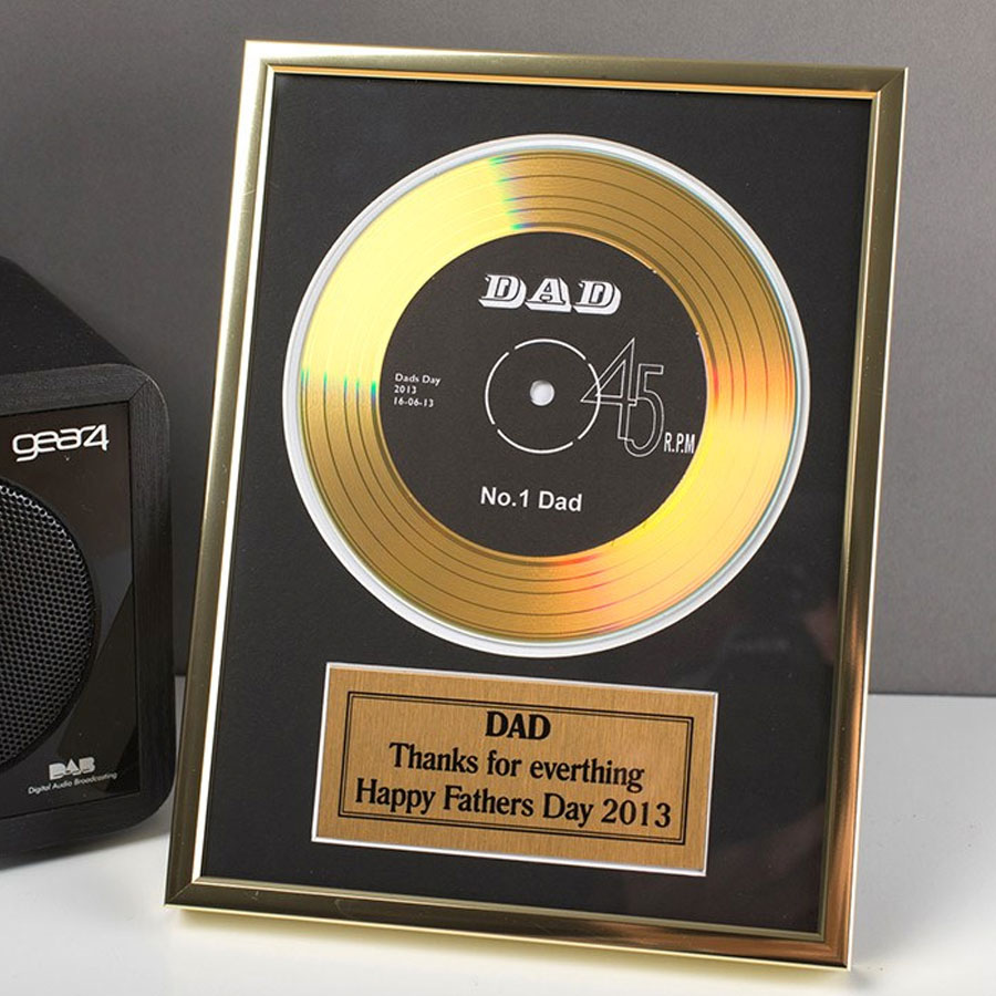 gold fathers day record gift for dad