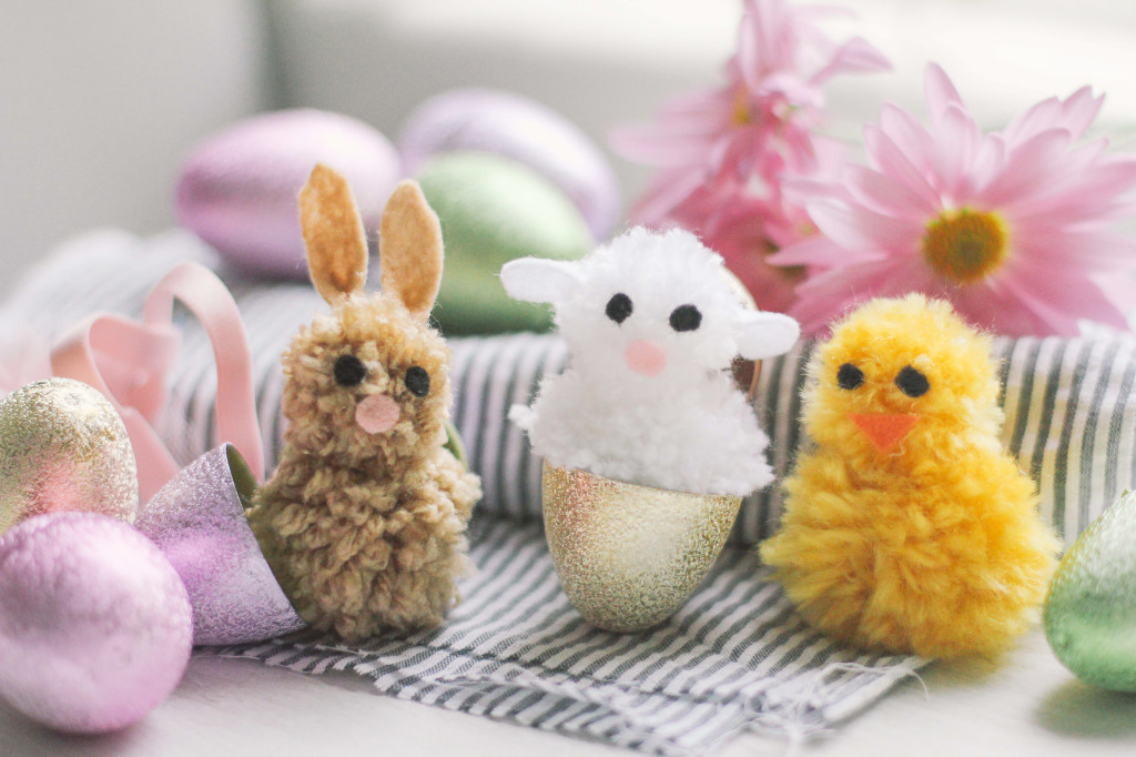 homemade pom pom animals