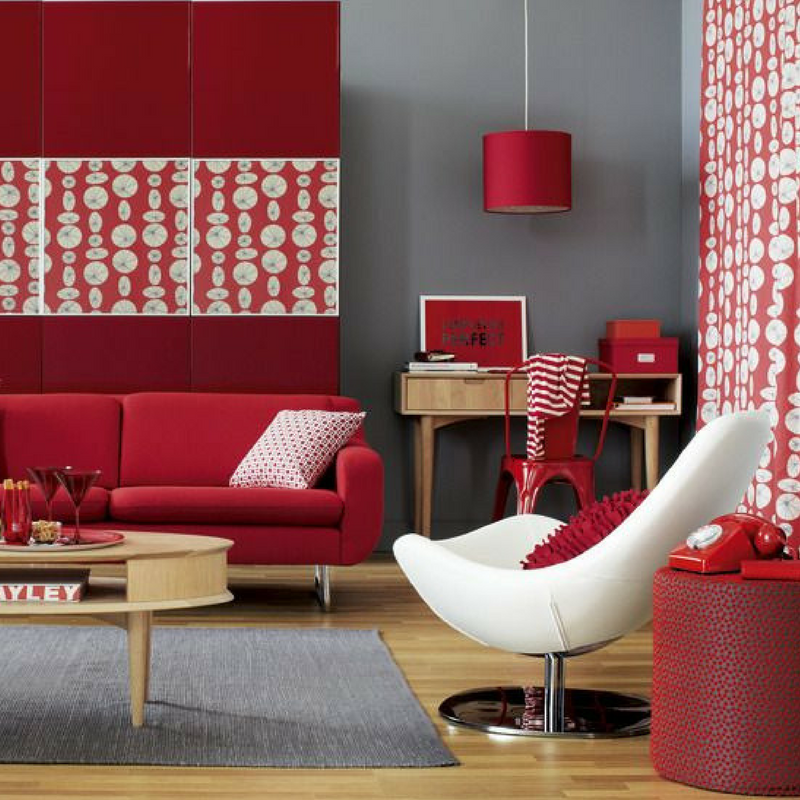 Room Colour Red Living Room