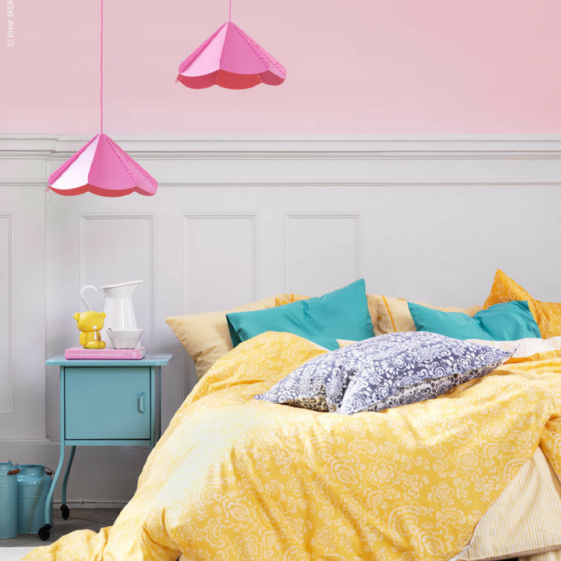 Yellow Pink And Blue Room Colour