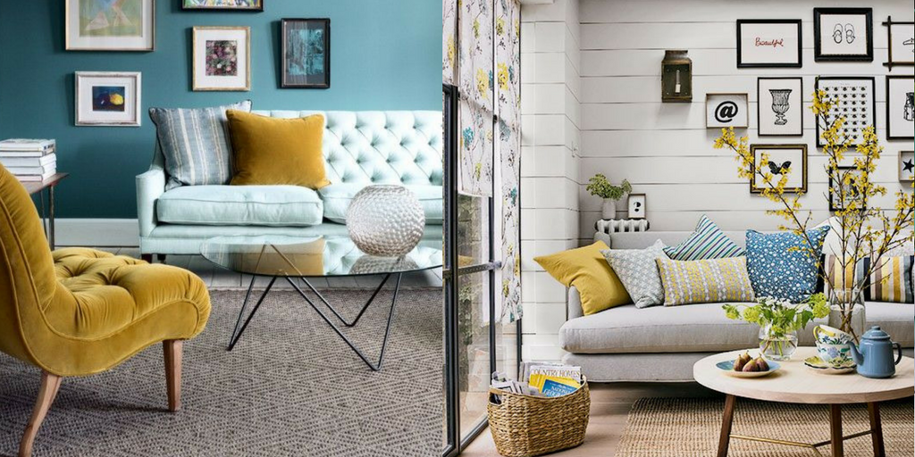 summer hottest interior trends yellow and blue colour trends