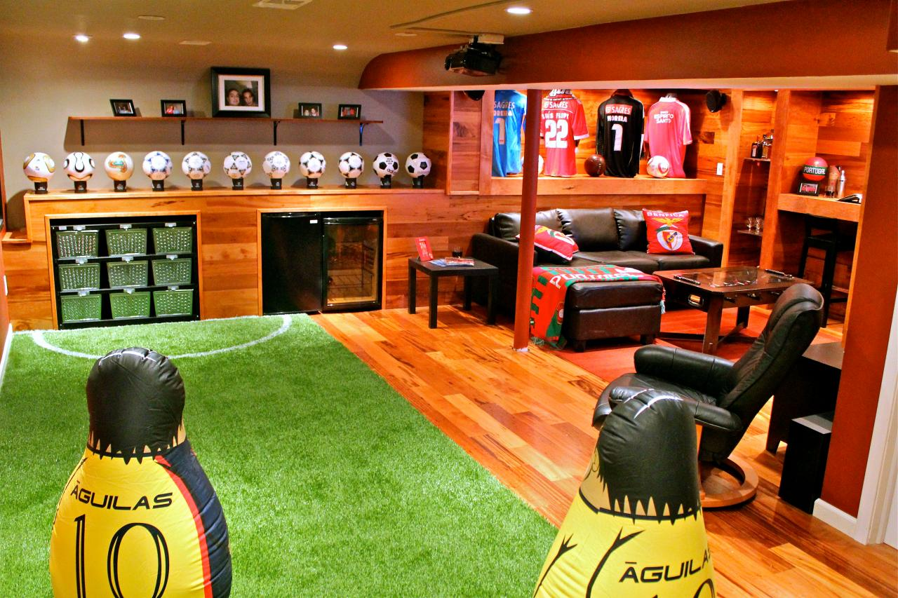 football themed man cave