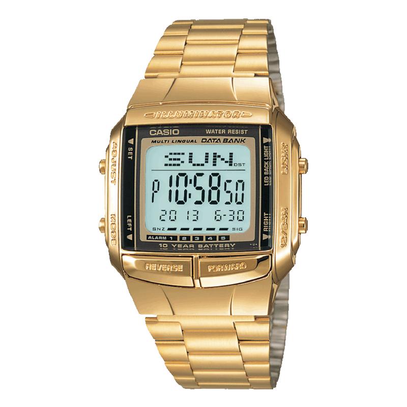 golden casio wrist watch