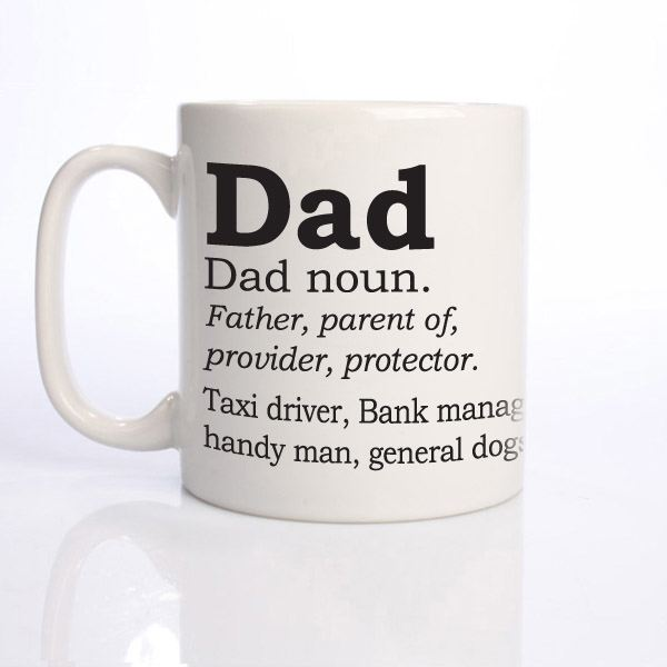 dad mug with father's day definition