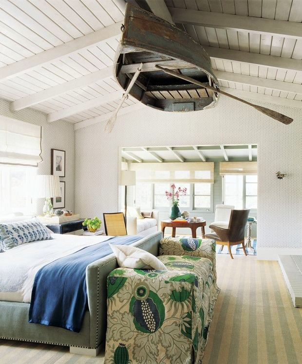 nautical boat on the ceiling bedroom design