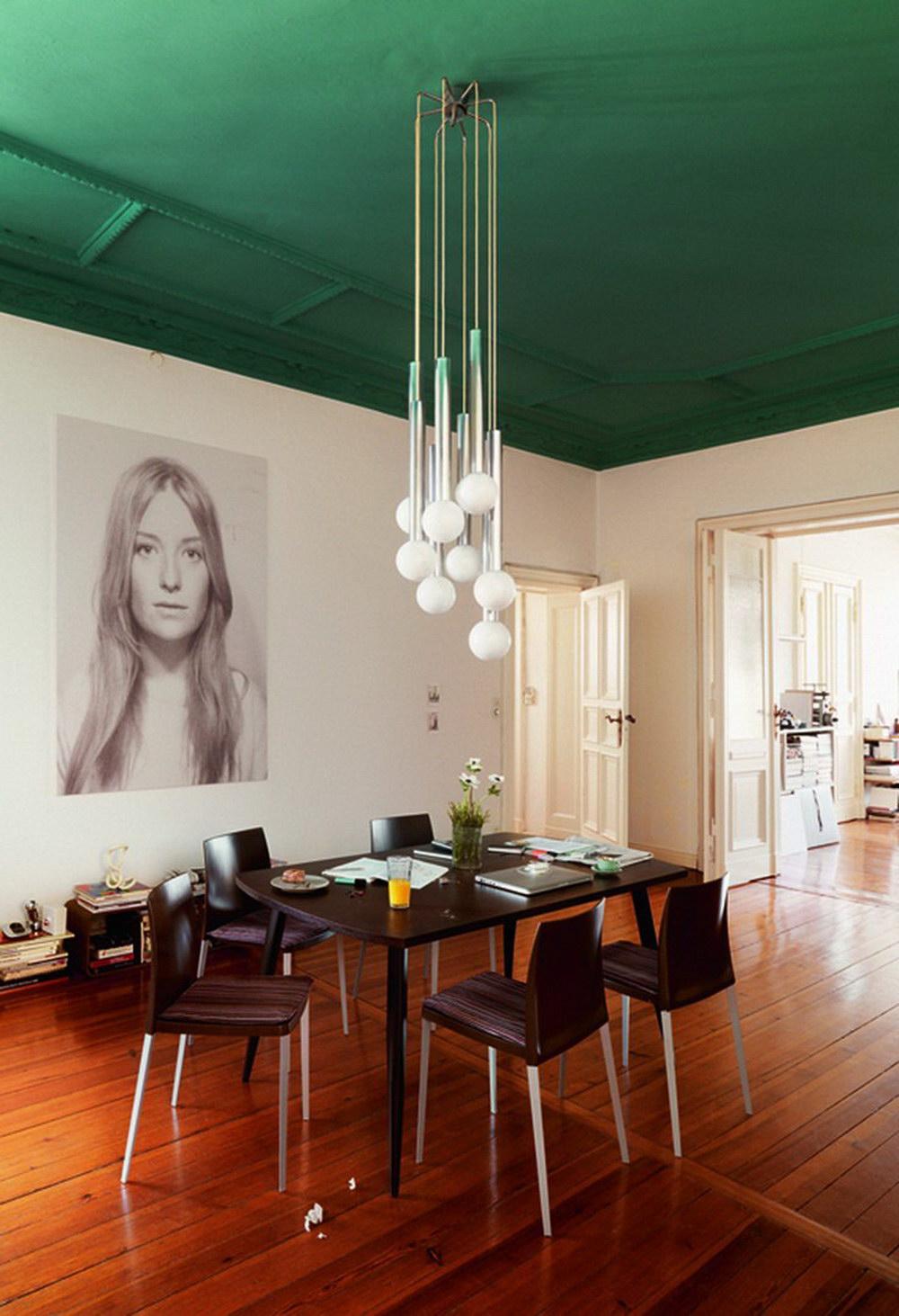 Contemporary Emerald Green Ceiling
