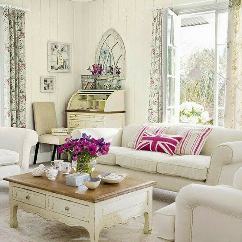 summer vibes white accents in a home