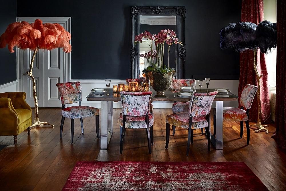 velvet in the dining room