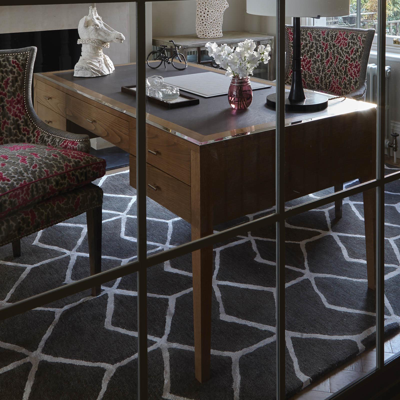 Venezia rugs in Slate by William Yeoward