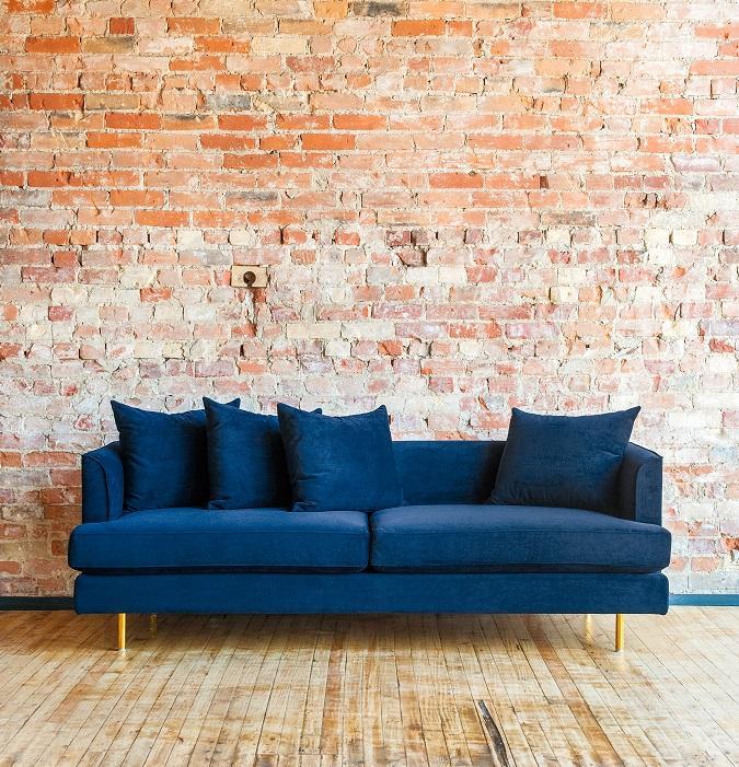 velvet in the living room