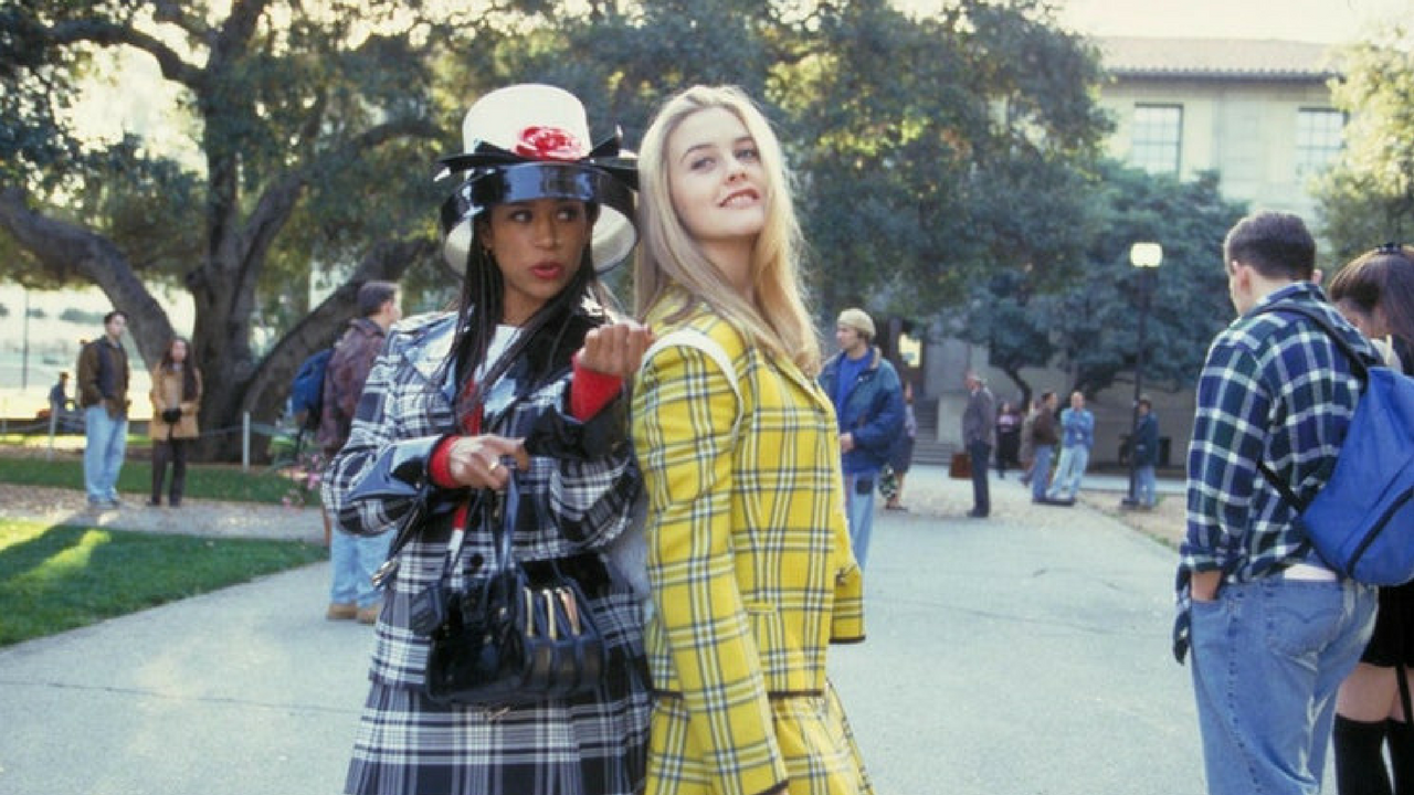 clueless' cher and dion wearing plaid clothing