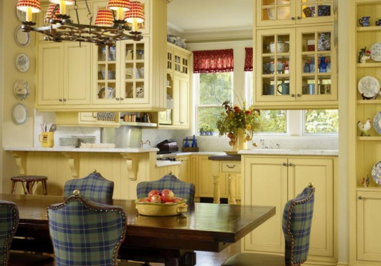 yellow kitchen tartan plaid chairs