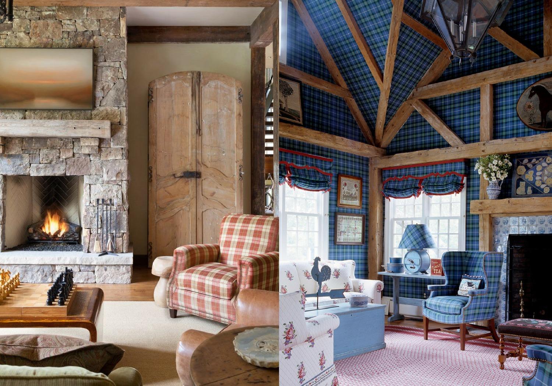 tartan plaid living room chairs