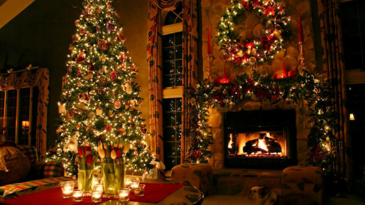 decorative christmas living room