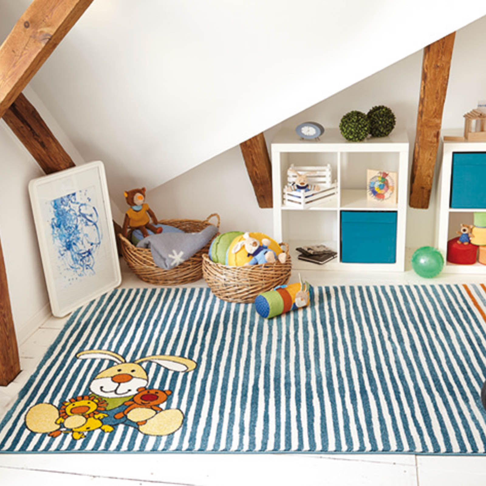 kids rug in a kids bedroom with a bunk bed open for black friday discount