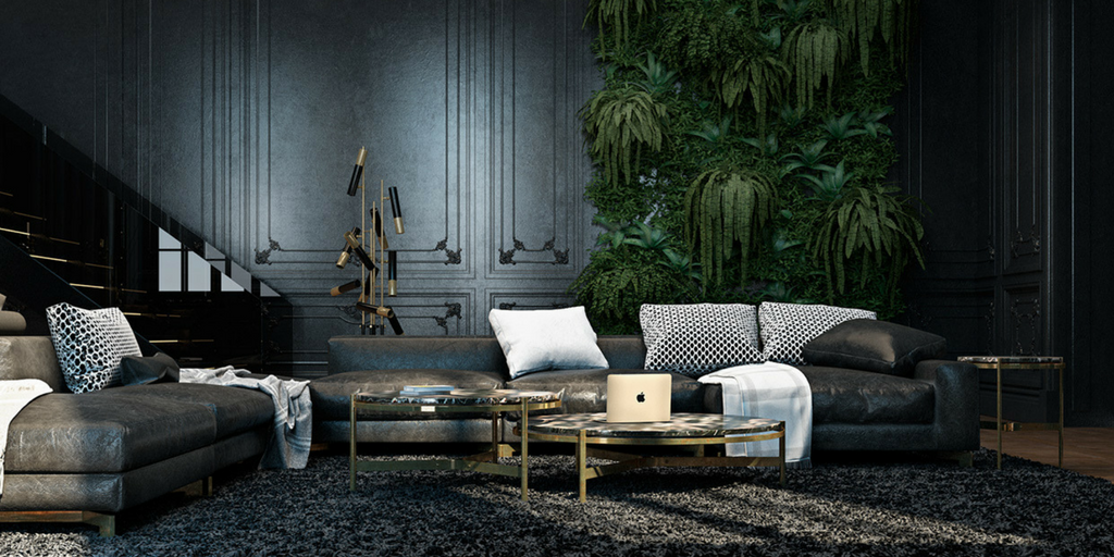 dark colours muted grey coloured sophisticated living room