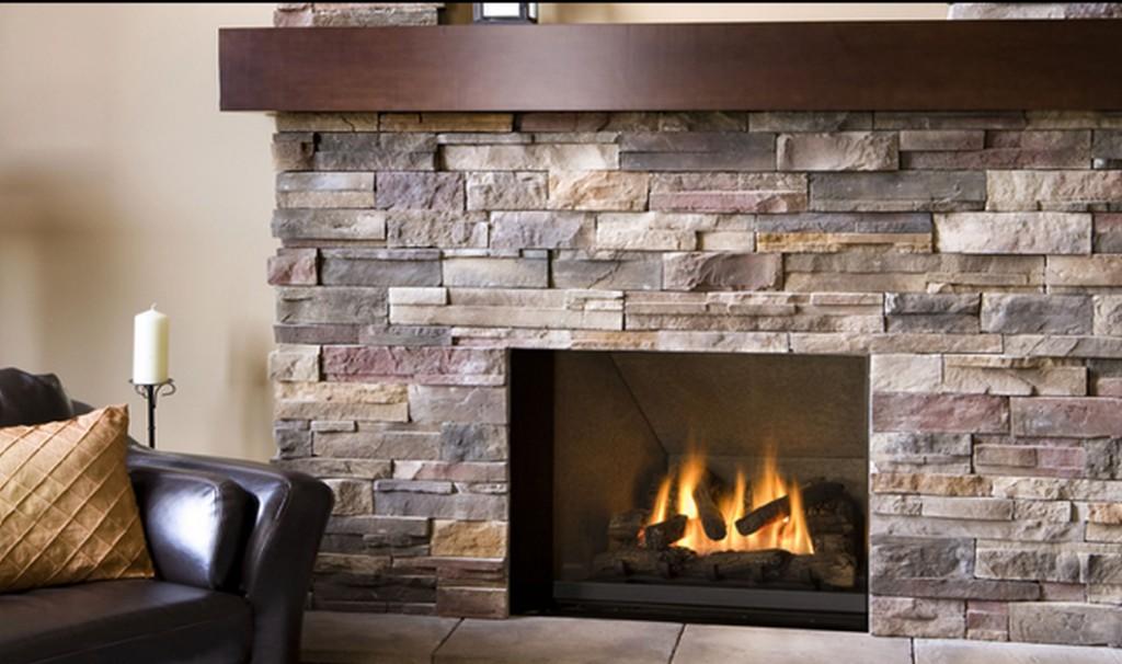 ledgestone fireplace surrounding