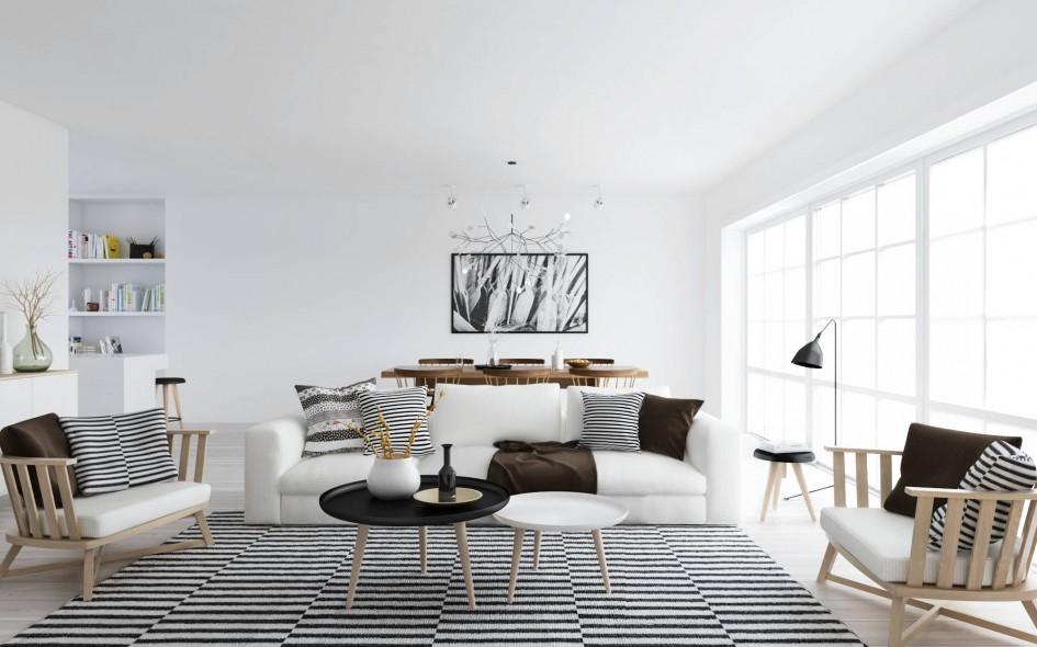 tech free scandinavian style interior