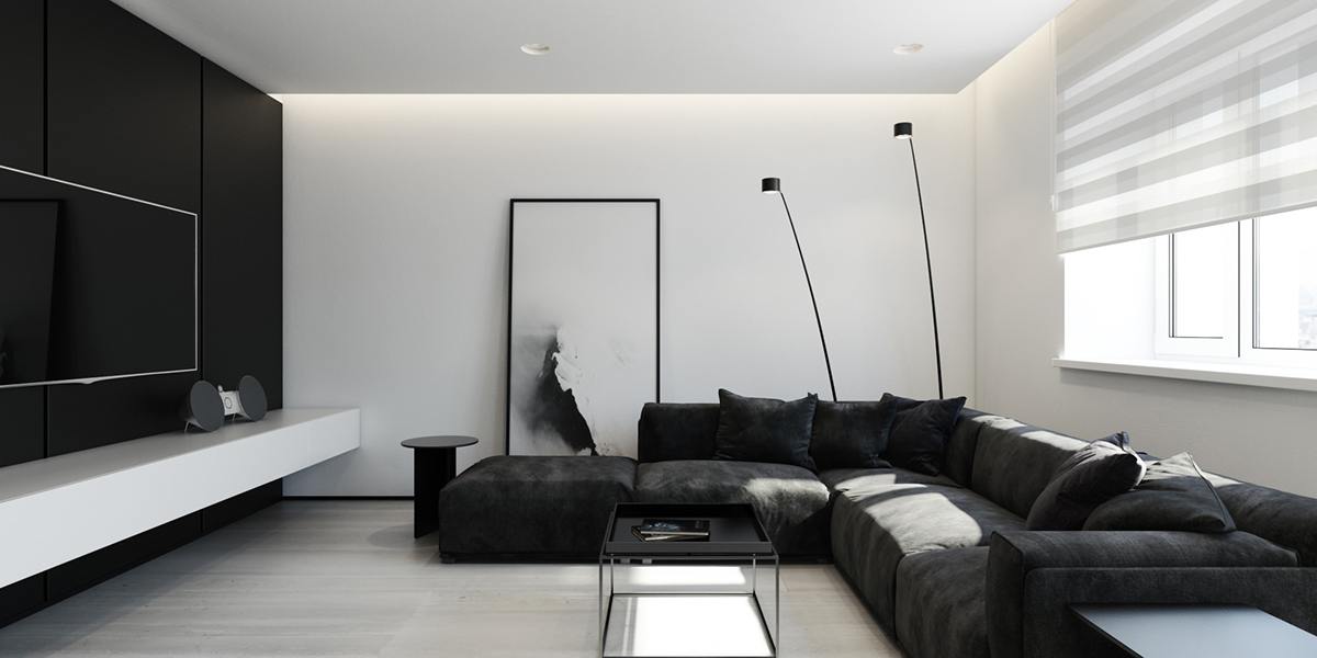monochrome interior