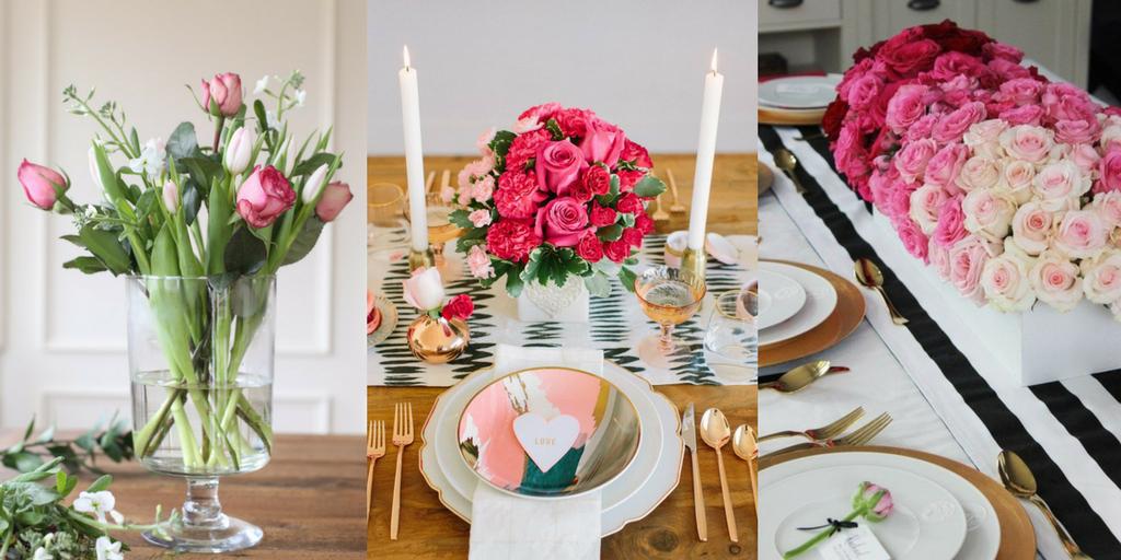 Valentine's Day romantic flower arrangement