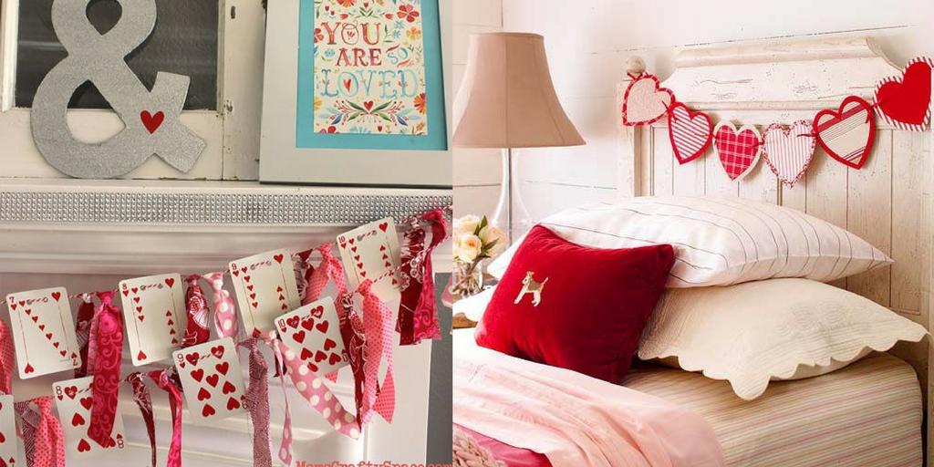 Valentine's Day creative sentimental garlands