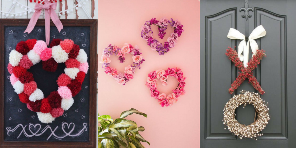 Valentine's Day decorative door wreaths for your home