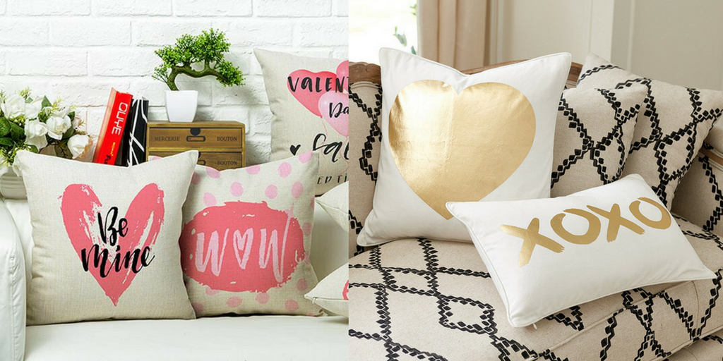 Valentine's Day comfy pillows