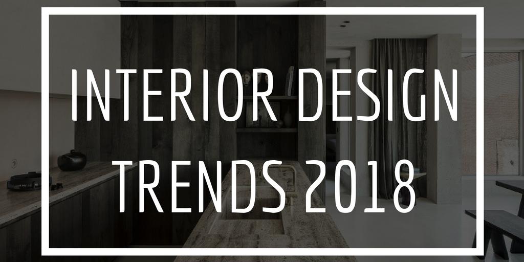 interior design trends 2018 graphic
