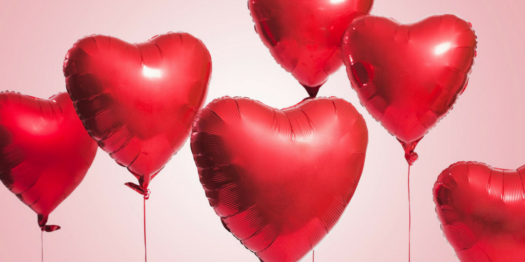 Valentine's Day thoughts and red balloons