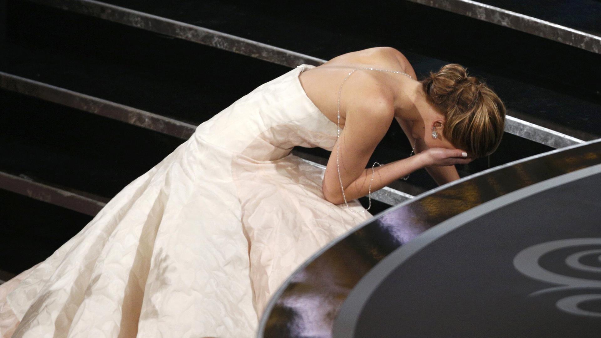 Jennifer Lawrence's Oscars Fall