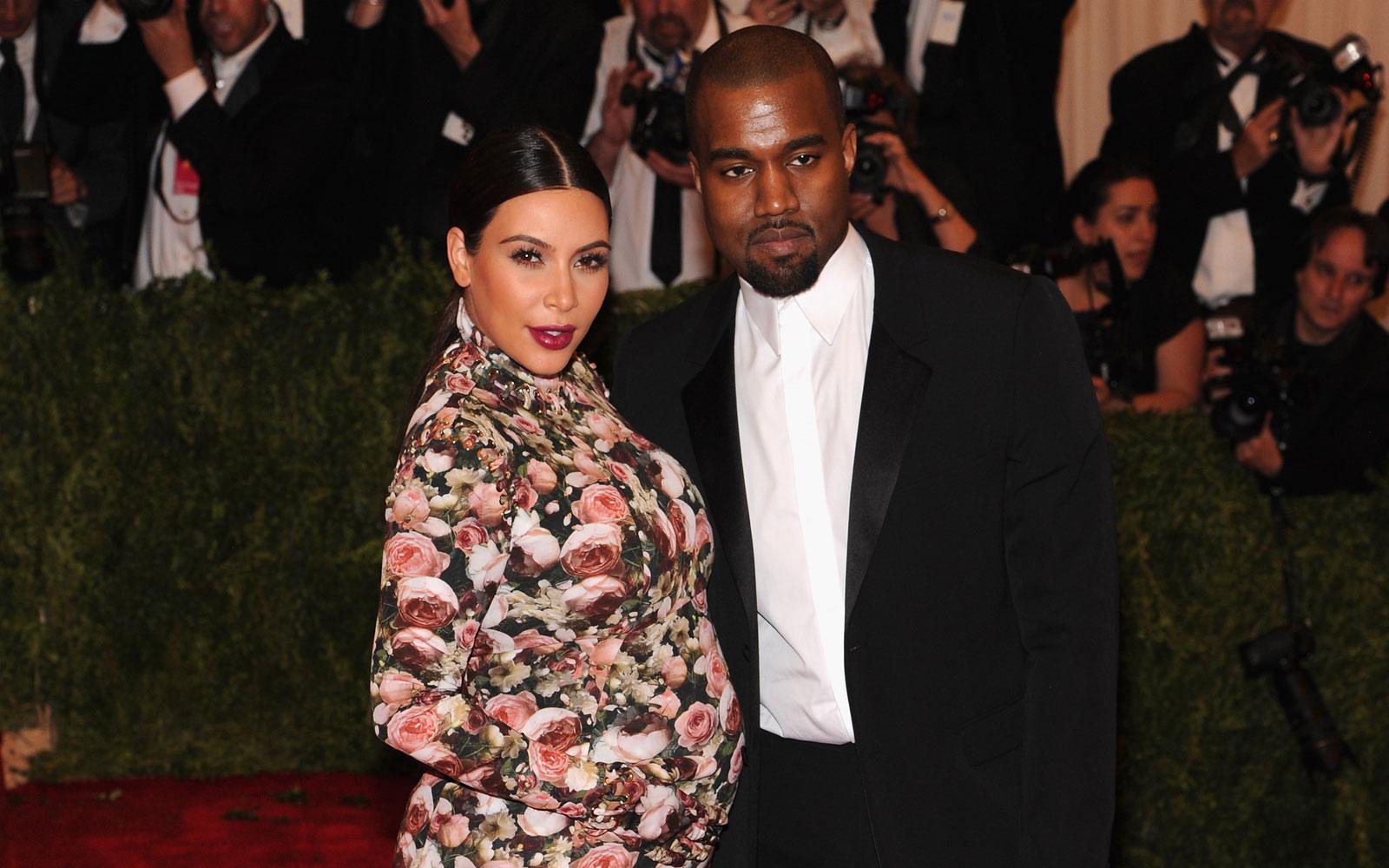 Kim Kardashian's Floral Dress