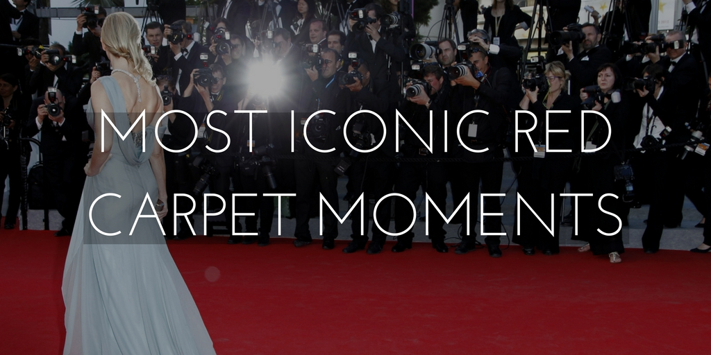 most iconic red carpet moments graphic