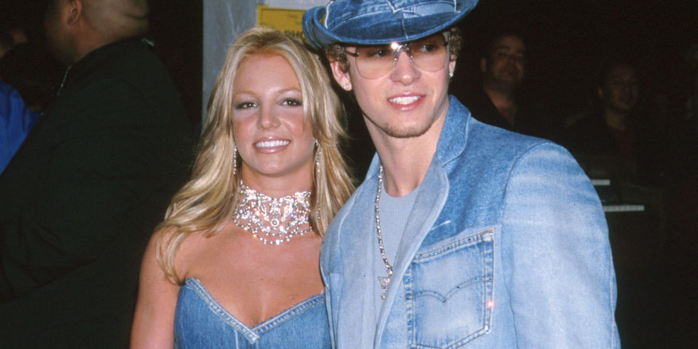 Britney spears and Justin Timberlake double denim