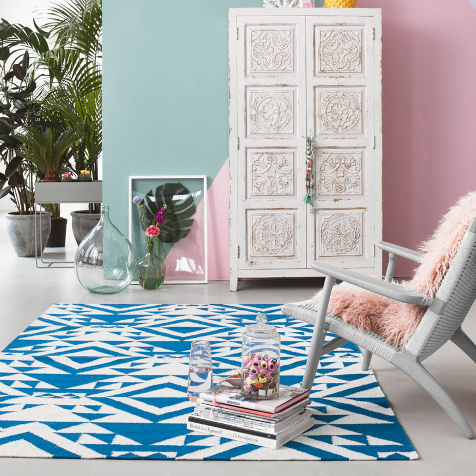 Blue Mellow rugs 004 12 by Accessorize Home