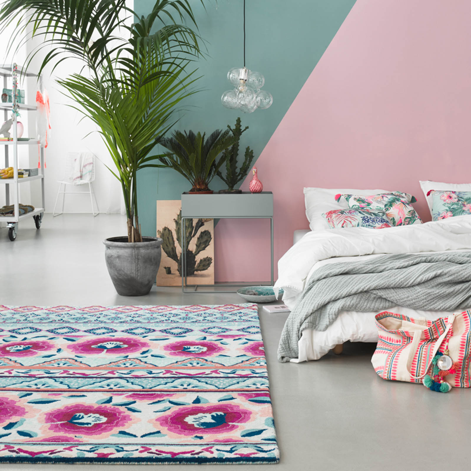 Pink Poppy rugs 005 10 by Accessorize Home