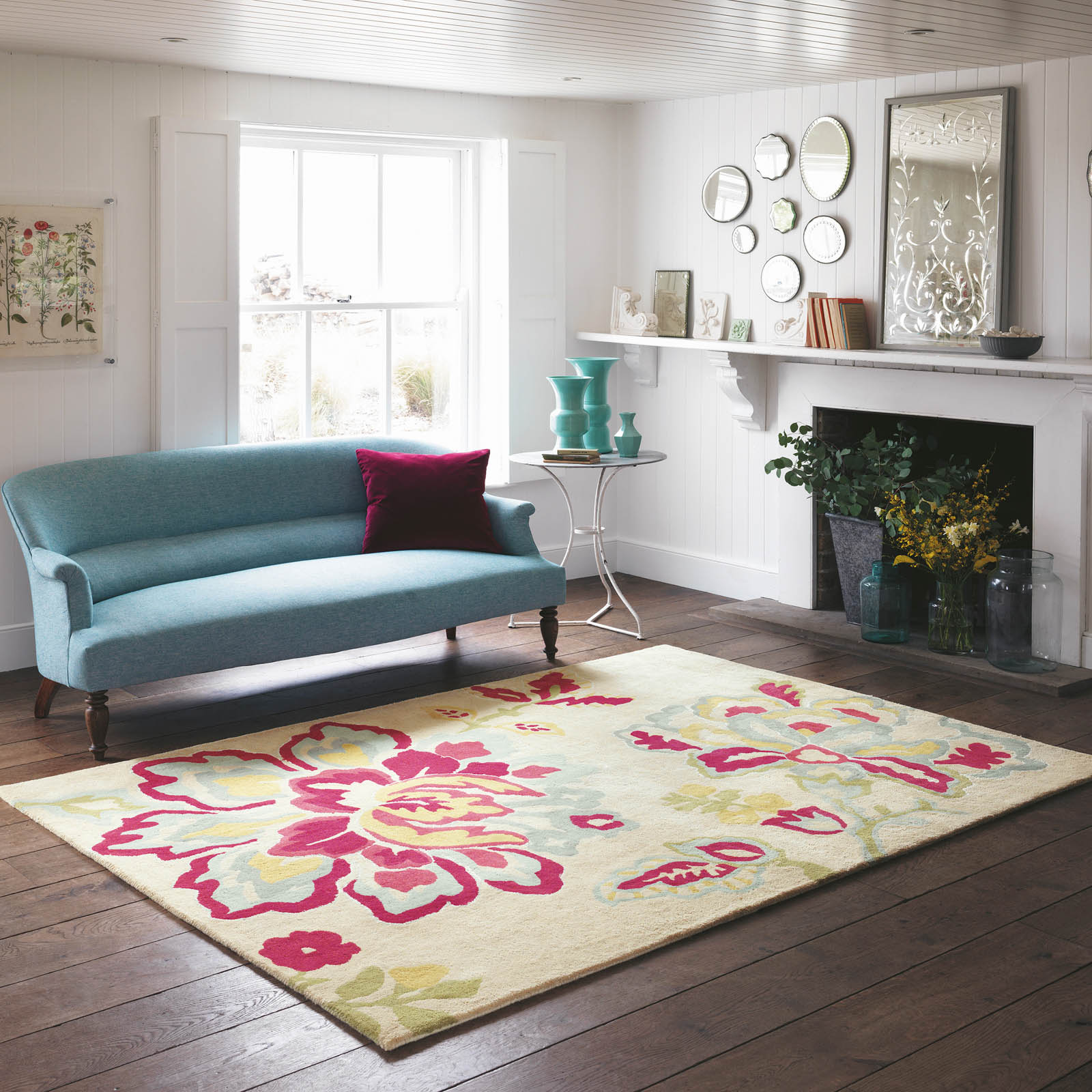 Mother's Day gift, Sanderson Angelique Rugs 46500 in Rose