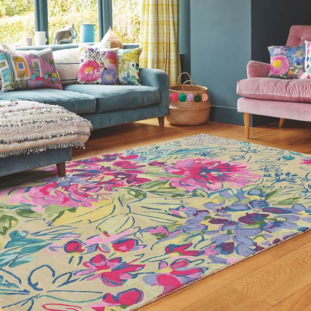 Mother's Day gift, Ines Jardin Rugs 19904 by Bluebellgray