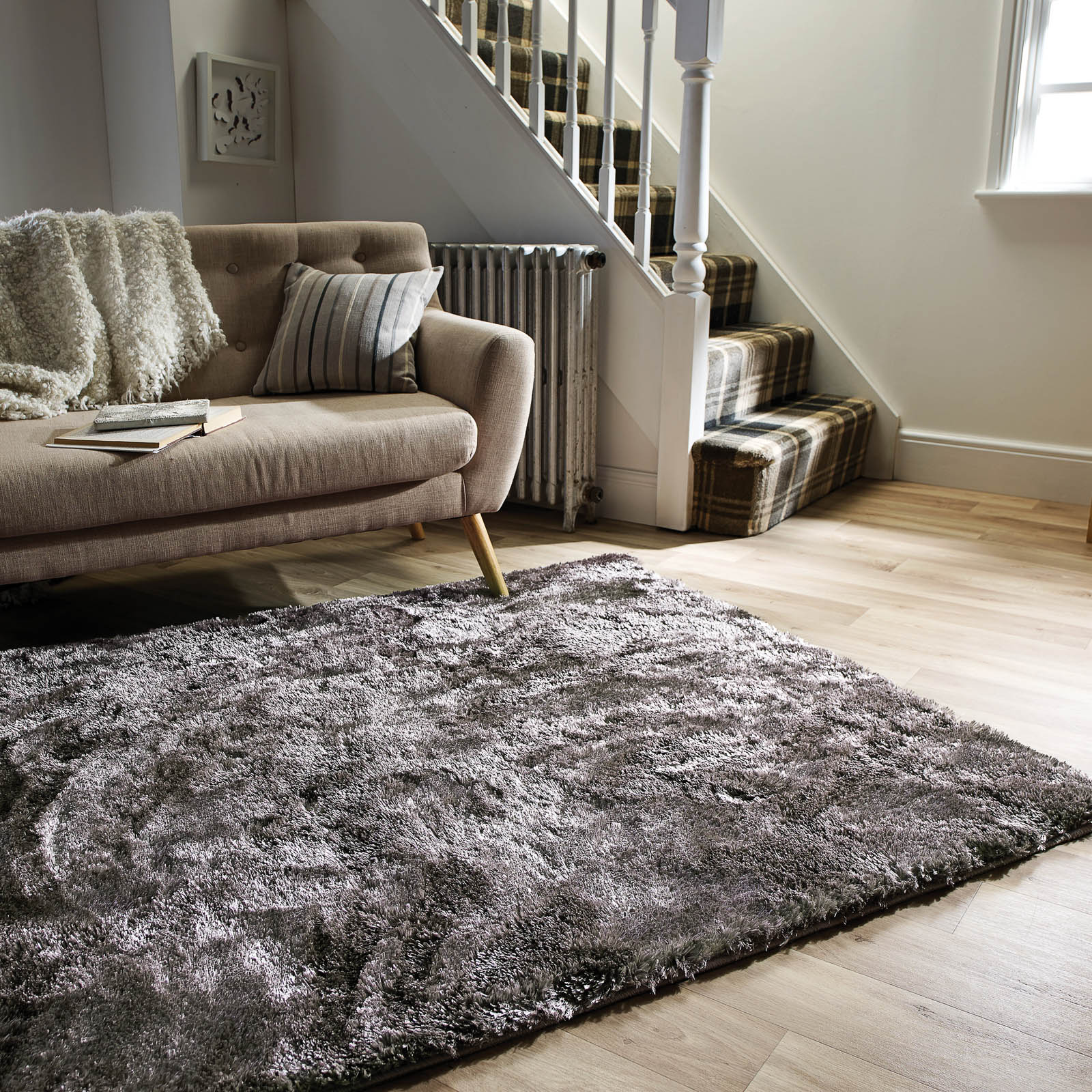 Accessorize Home Serenity Rugs in Silver