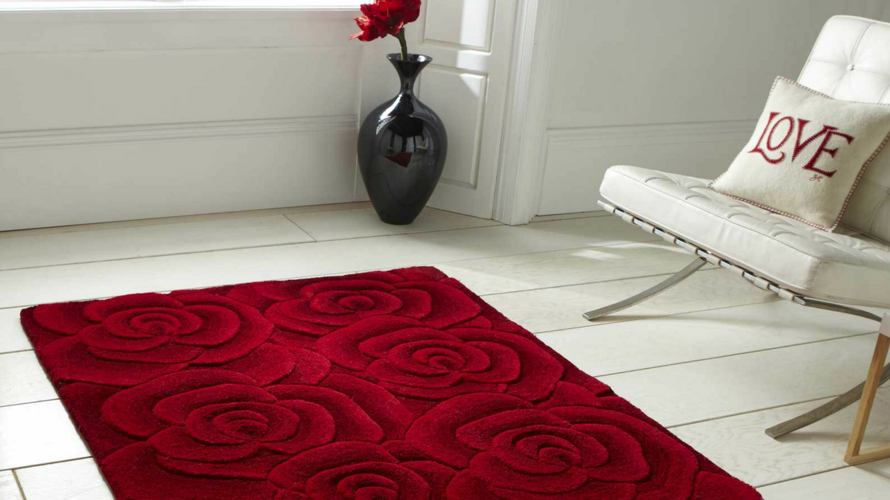 Mother's day gift, Valentine Rugs VL10 Hand Made Indian Wool in Red