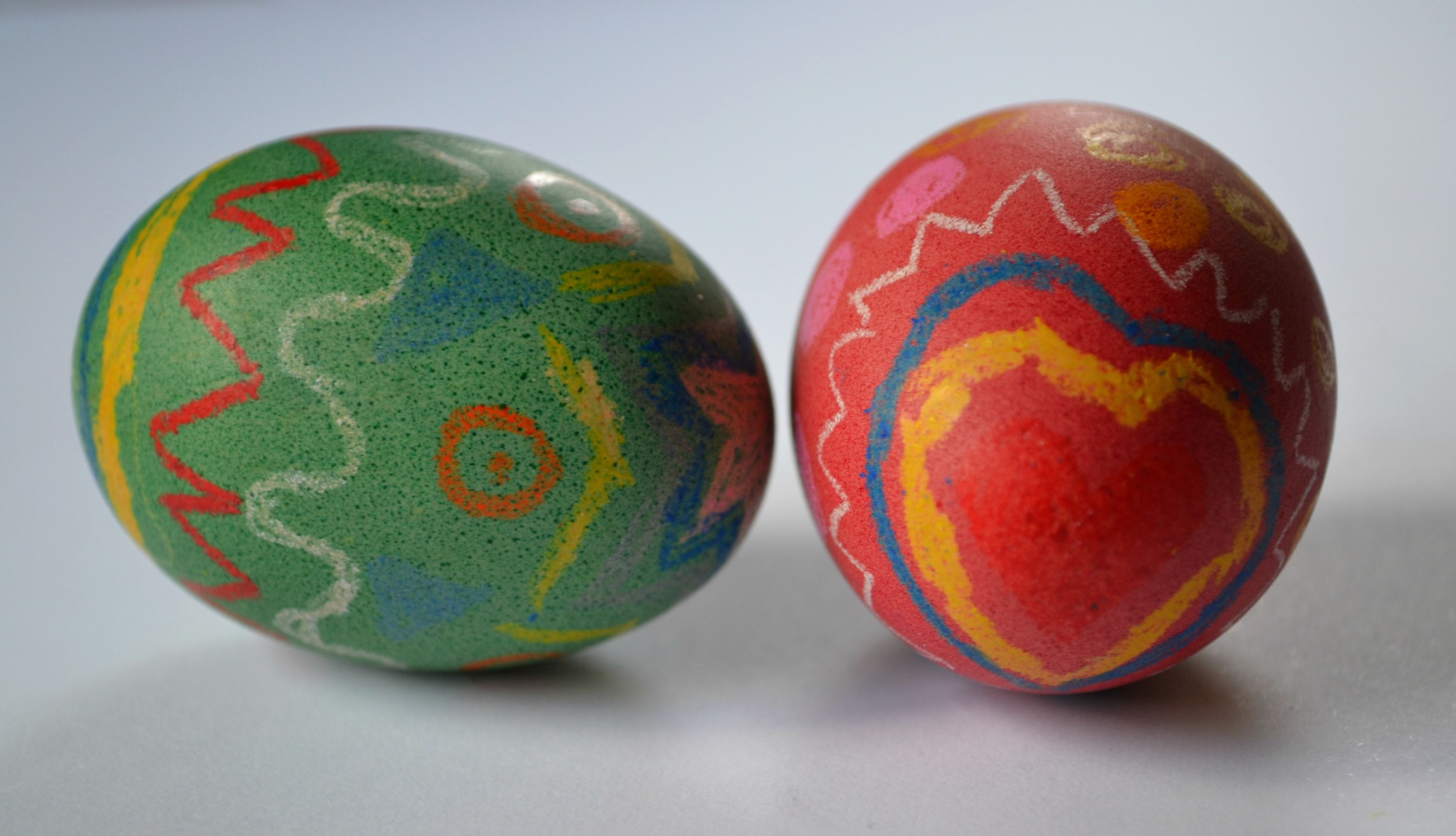 painted hard boiled egg for easter