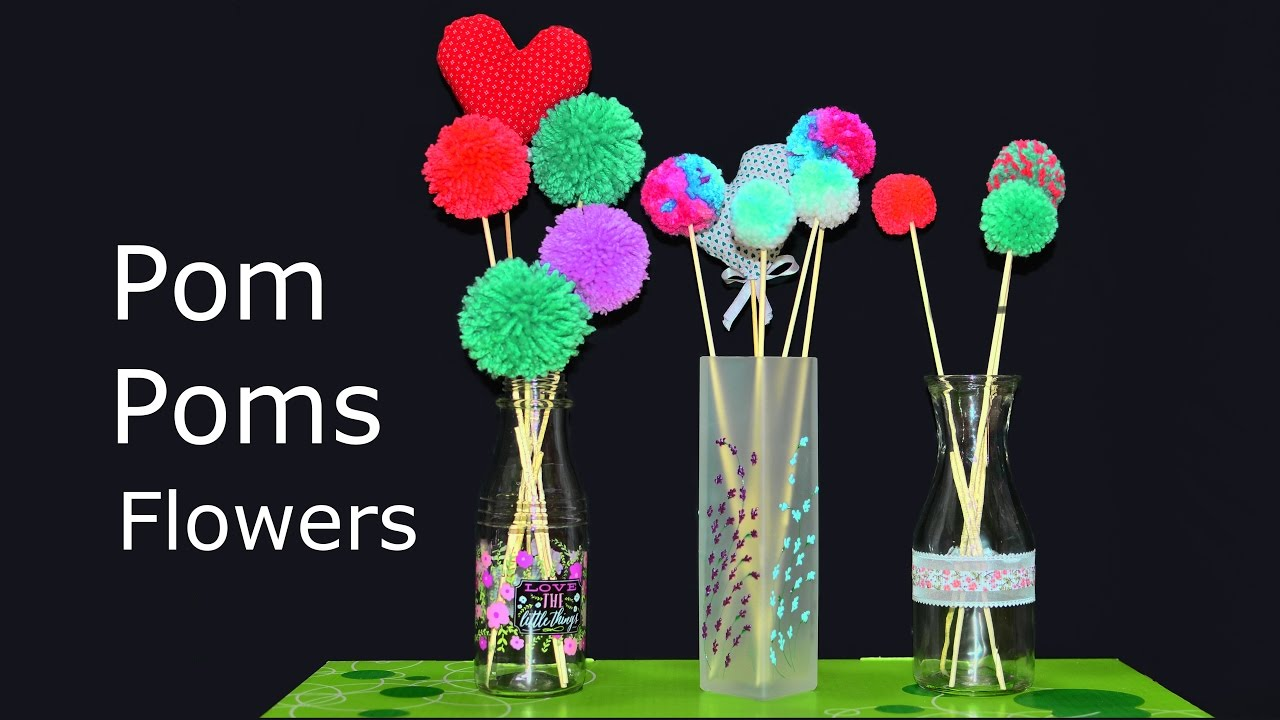 pom pom flowers graphic