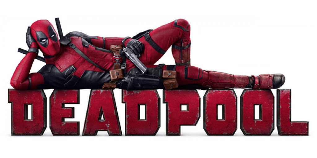 Deadpool Laying On His Name Banner Image