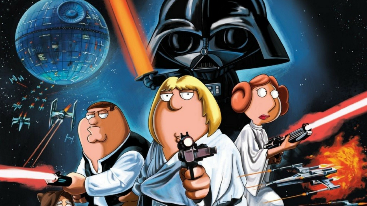 Star Wars May the 4th be with you Family Guy Episode Chris, Stewie, Peter and Lois Griffin