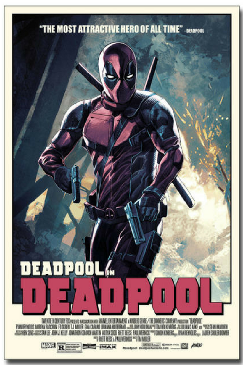 Deadpool in Deadpool Bedroom Poster for Kids