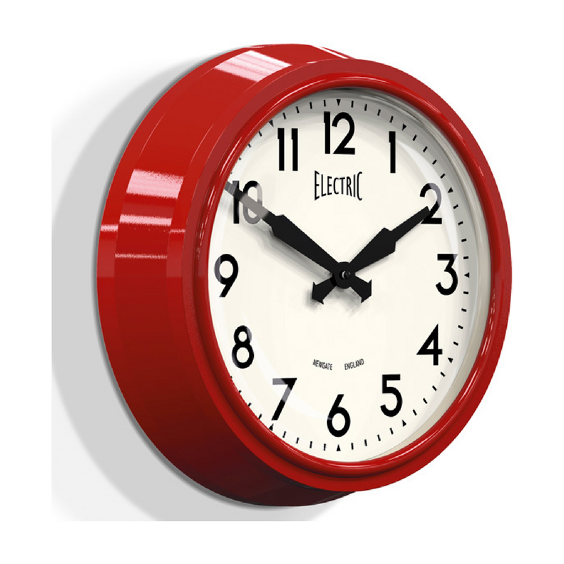 Deadpool Shiny Red Modern Clock Side Angle