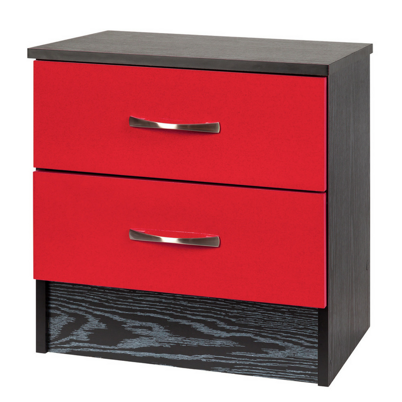 Deadpool Red and Black Wooden Bedside Cabinet