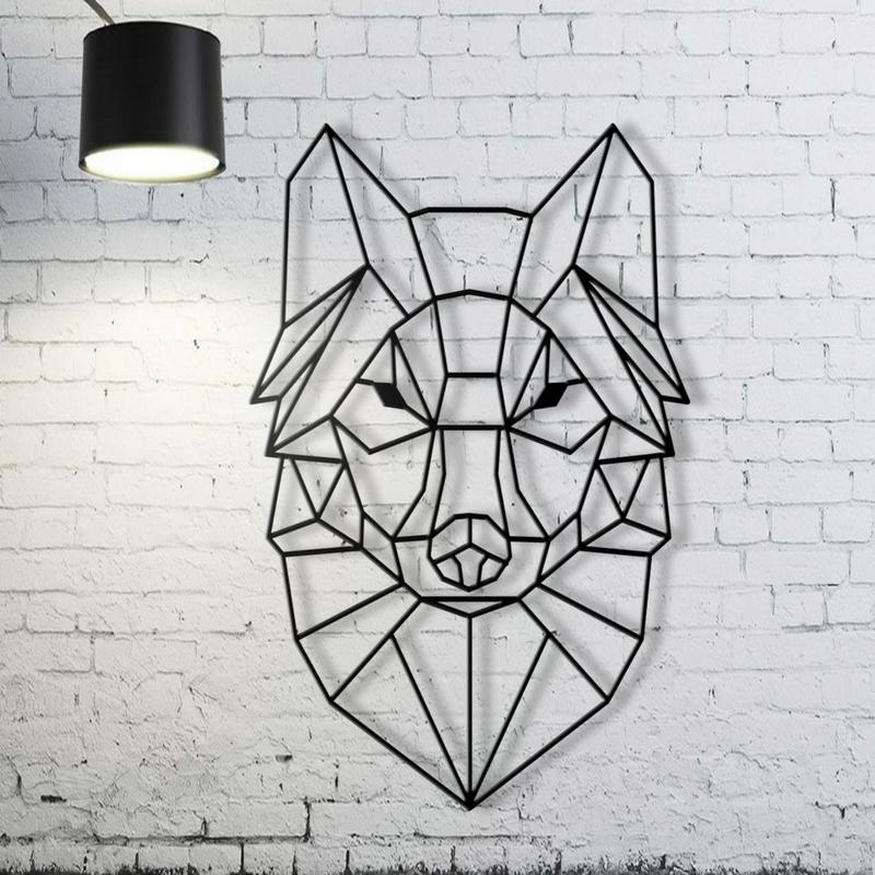 Geometric Patterns Wolf Wall Art