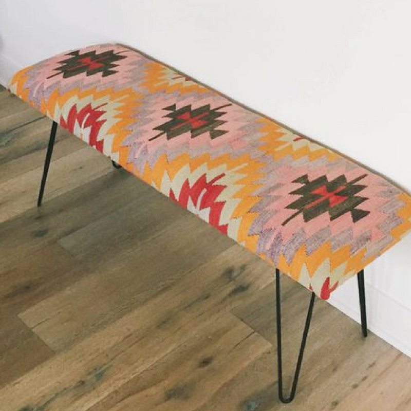 turn kilim rug into a bench upcycle your rug