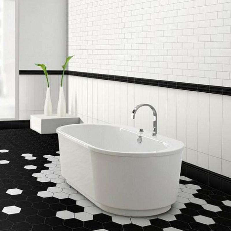 Geometric Patterns floor tiles for the bathroom