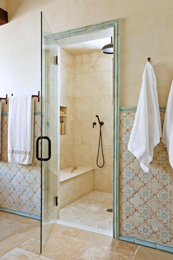 Geometric Patterns Bathroom Wall Tiles in a subtler tone